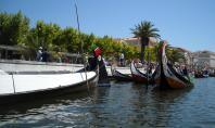 Moliceiros no canal Central da Ria de Aveiro